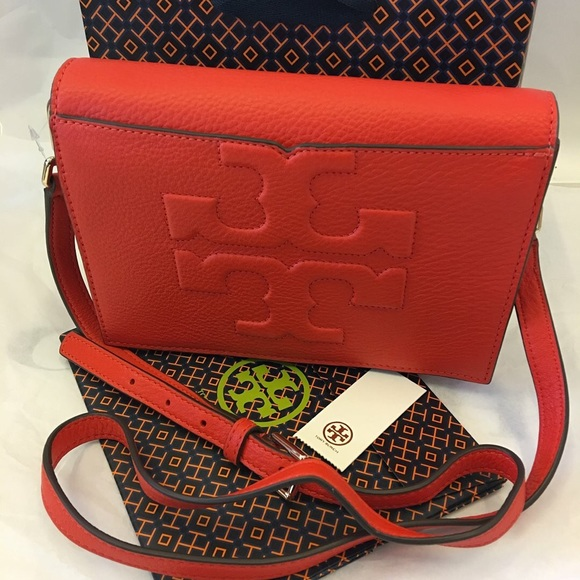 "388fc9ffe0ff Tory Burch ""Bombe T"" Combo Leather Crossbody"